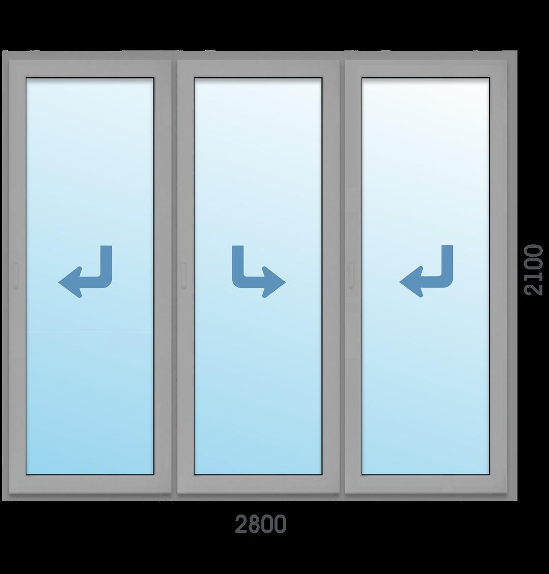 Алюминиевая дверь Портал Татпроф МП-45